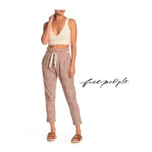 NEW Free People Light@Sunrise Crop Striped Pants